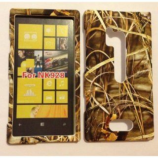 ADV CAMO GRASS REALTREE WILD DRY CAMOUFLAGE HUNTER FOR NOKIA LUMIA 928 VERIZON RUBBERIZED HARD PROTECTOR COVER CASE / SNAP ON PERFECT FIT CASE Cell Phones & Accessories