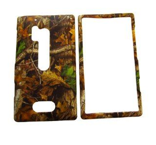 NOKIA LUMIA 928 VERIZON TREE OAK GREEN WOODS CAMO CAMOUFLAGE HUNTER RUBBERIZED HARD COVER CASE SNAP ON Cell Phones & Accessories