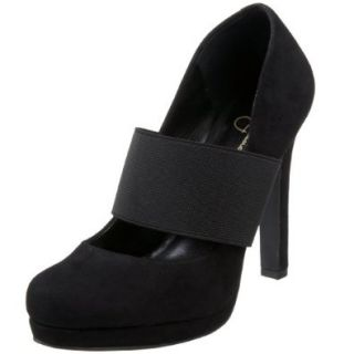 Jessica Simpson Women's Delanie Platform Mary Jane, Black, 5 M US Shoes