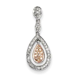 14k Two Tone Diamond Pendant Jewelry
