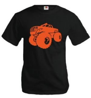 T Shirt Monster Truck Silhouette Clothing