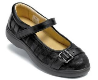SureFit 'Florence' Orthopedic Mary Janes, Black, Women's 8W Mary Jane Flats Shoes