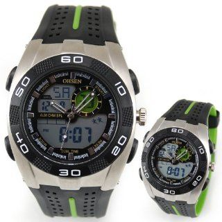 Young Men Boys Light Alarm Date Dual Hours Chronograph Luxury Sports Wrist Watch Watches