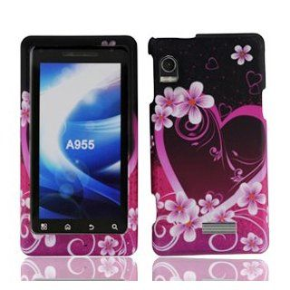 For Motorola A955 Droid 2 R2D2 Accessory   Purple Heart Design Hard Case Cover Cell Phones & Accessories