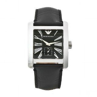 Emporio Armani Men's AR0180 Classic Black Leather Band Watch Emporio Armani Watches