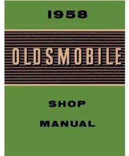 1958 Oldsmobile 98 Super 88 Fiesta Shop Service Manual Automotive