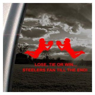Pittsburgh STEELERS Red Decal Car Truck Window Red Sticker   Automotive Decals