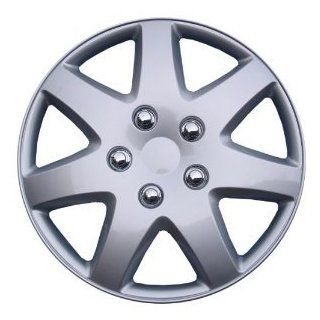 "SET of 4 Hubcaps Wheel Covers KT962 16S/L 16"" Silver Finish Automotive"