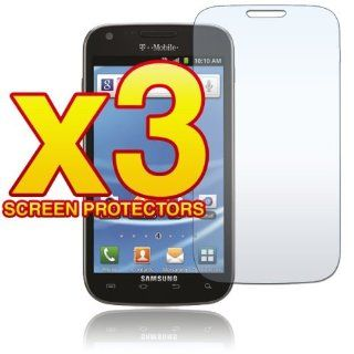 Samsung Hercules T989   THREE (3) Premium Clear LCD Screen Protectors [AccessoryOne Brand] Cell Phones & Accessories