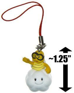 "Lakitu ~1.25"" Mini Figure Charm New Super Mario Bros Wii Enemy Mascots Series Toys & Games"