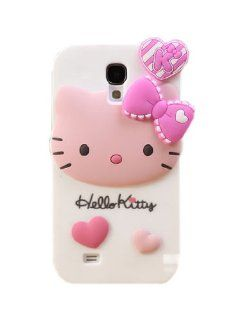JBG Hello Kitty Samsung S4 i9500 New 3D Cute Cartoon Character Design Silicone Rubber Soft Case Protective Cover For Samsung Galaxy S4 IV i9500 Cell Phones & Accessories