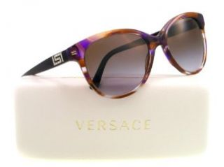 Versace 4246B 968/68 Striped Violet Brown 4246B Cats Eyes Sunglasses Lens Categ Versace Clothing