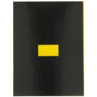 "Brady 5890 DSH Bradylite 1 7/8"" Height, 1 3/8 Width, B 997 Engineering Grade Bradylite Reflective Sheeting, Yellow On Black Reflective Symbol, Legend ""DASH"" (Pack Of 25) Industrial Warning Signs"