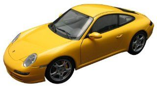 2005 Porsche 911 Carrera S Type 997 diecast model car 118 scale die cast by AUTOart   Yellow Toys & Games
