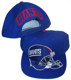 New York Giants Big Helmet Logo Blue Snapback Adjustable Plastic Snap Back Cap / Hat  Sports Fan Baseball Caps  Sports & Outdoors
