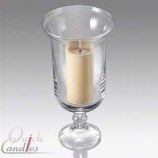 Eastland Adena Pedestal Hurricane Glass Vase   Votive Candles