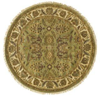 Safavieh CL239A 8R Classics Collection Handmade Gold Wool Round Area Rug, 8 Feet Round