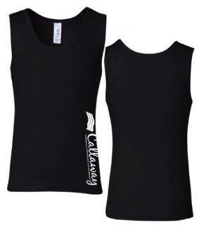 Callaway Cars 980.93.9552.M Black Medium Girls' 1X1 Ribbed Tank Top Automotive