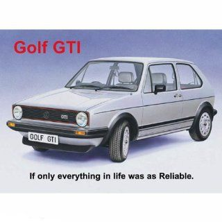 Volkswagen Golf GTI Sign   Yard Signs