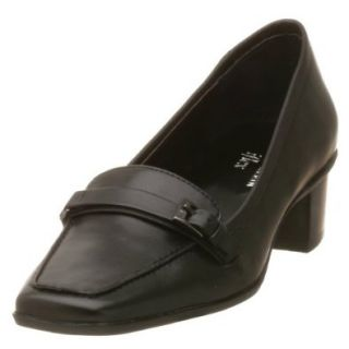 AK Anne Klein Women's Larkin,Blk/Blk Leather,7 M Shoes