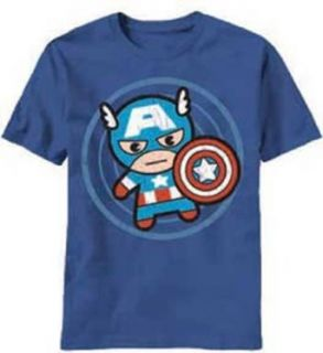 Marvel Men's Cap In Circle T Shirt Fashion T Shirts Home & Kitchen
