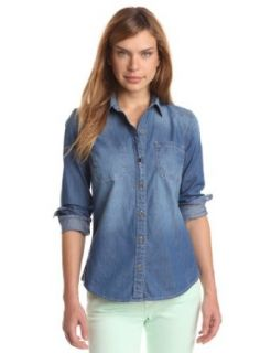 Lucky Brand Women's Chambray Shirt Button Down Shirts