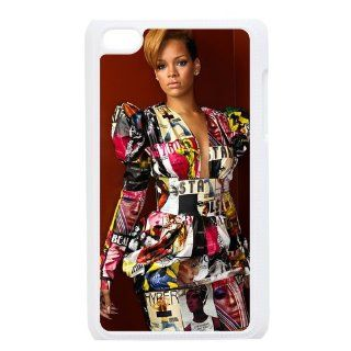 "Custom The Super Star ""Rihanna"" Printed Hard Protective Case Cover for iPod Touch 4/4G/4th Generation DPC 2013 15586 Cell Phones & Accessories"