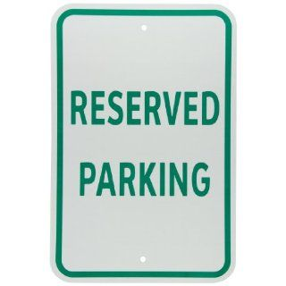 "Brady 94359 Reflective Aluminum B959 Sign Reserved Parking, 18"" X 12"",  Industrial Warning Signs"
