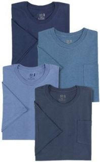 Fruit of the Loom Men's 4 Pack Pocket Crew Neck T Shirt at  Men�s Clothing store