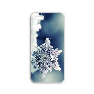 Iphone 5 Mobile Case DIY New Creative Cellphone Back Cover Scratchproof Cellphone Case with Creative Design Pictures Series Cool Backgrounds glittering and translucent SnowflakeL Cell Phones & Accessories
