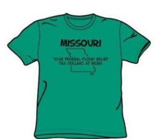 Missouri   Adult Kelly Green S/S T Shirt For Men Novelty T Shirts Clothing