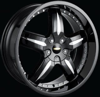 "SYNC 18"" BLACK WHEEL AUDI BMW CADILLAC HONDA RIDGELINE MERCEDES PONTIAC GTO VW JETTA *Picture is to show the style of the wheel only. Color may be different according to title. Automotive"