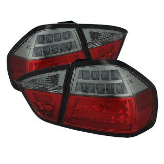 Spyder Auto (ALT YD BE9006 LBLED G2 RS) BMW 3 Series E90 4 Door Red/Smoke Light Bar Style LED Tail Light with Indicator   Pair Automotive