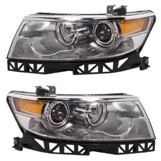 2007 2008 2009 Lincoln MKZ & 2006 Zephyr Headlight Headlamp Composite Halogen (Non HID, without Xenon) Front Head Light Lamp Pair Set Left Driver And Right Passenger Side (06 07 08 09) Automotive