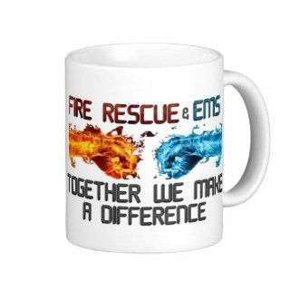 Fire Rescue & Ems Together We Make A Difference Coffee Mug  Sports Fan Coffee Mugs  Sports & Outdoors