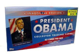 Barack Obama Value Box Presidential Topps Trading Cards (6 Packs) Toys & Games