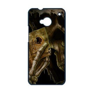 Custom Shop Death NFL Washington Redskins Logo Skeleton Hand Background Custom Case For HTC ONE M7 Cell Phones & Accessories