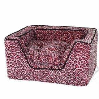 Snoozer Memory Foam Luxury Square Pet Bed, Large, Bobcat Pink/Black