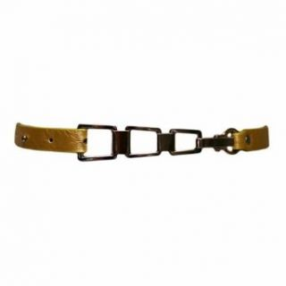 Luxury Divas Thin Gold Jeans Loop Belt With Linked Buckle Apparel Belts