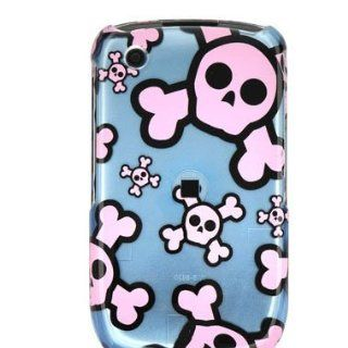 Durable Plastic Design Phone Cover Case Blue and Pink Skull for BlackBerry Curve Series Cell Phones & Accessories