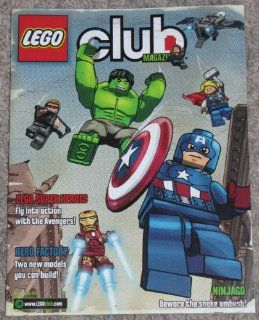 Lego Club Magazine, May   June 2012 Featuring LEGO SUPER HEROES and NINJAGO AMBUSH COMICS; Monsters Search & Find Game; Trivia Quiz Contest; Also Creator, Cool Creations, LEGO Star Wars, LEGO City, Hero Factory and Minifigures; Free Child Ticket to LE