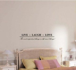 Newsee Decals Live~ Laugh~ Love The most important things in life aren't things Vinyl wall art Inspirational quotes and saying home decor decal sticker