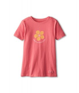 Life is good Kids Whats Up Buttercup Crusher Tee Girls Short Sleeve Pullover (Pink)
