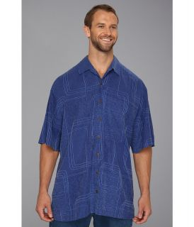 Tommy Bahama Big & Tall Big Tall Island Geo Camp Shirt Mens Short Sleeve Knit (Blue)