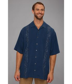 Tommy Bahama Big & Tall Big Tall Path To Raj Camp Shirt Mens Short Sleeve Button Up (Blue)