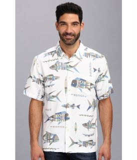 Quiksilver Waterman Descanso Beach S/S Shirt Mens Short Sleeve Button Up (White)