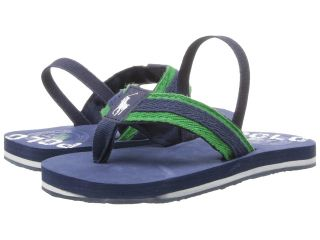 Polo Ralph Lauren Kids Ferry Thong Boys Shoes (Navy)