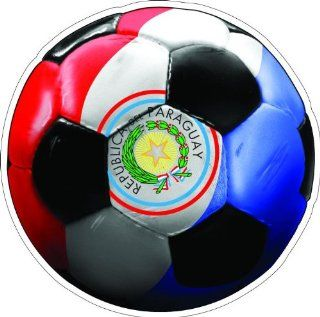 "12"" PARAGUAY SOCCER BALL Printed engineer grade reflective vinyl decal sticker for any smooth surface such as windows bumpers laptops or any smooth surface."