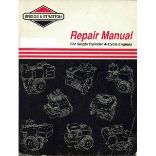 "Briggs & Stratton Single Cylinder ""L"" Head (Built after 1981) Repair Manual (0024847709629) Books"
