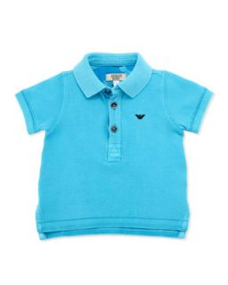 Armani Junior Infant Boys Basic Polo, Bright Blue, 3 24 Months